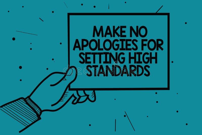 文字笔记陈列不做出为规定高标准的道歉 企业照片陈列的寻找的质量生产力人手 皇族释放例证