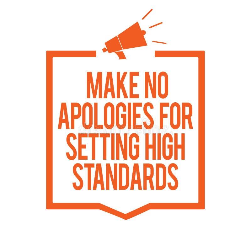 文字笔记陈列不做出为规定高标准的道歉 企业照片陈列的寻找的质量生产力Megaphon 皇族释放例证