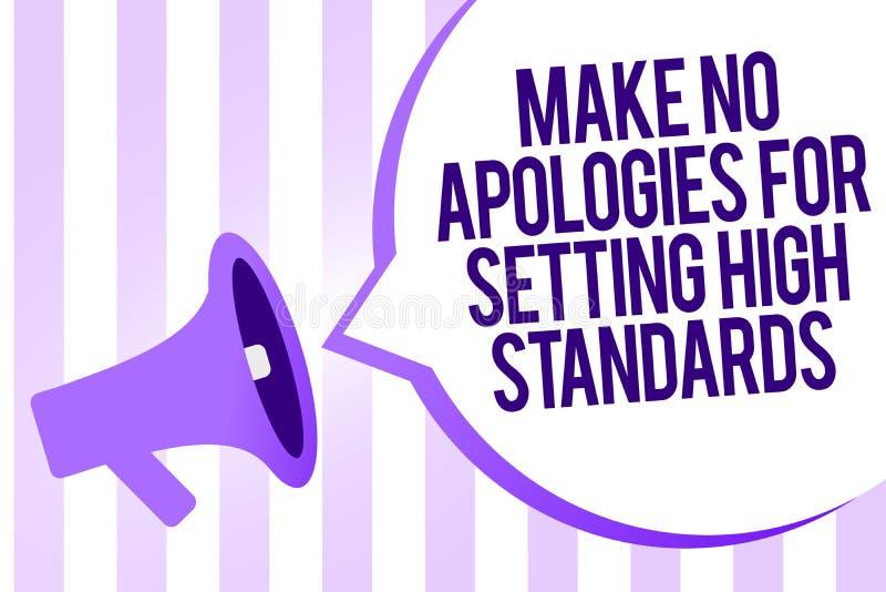 文字笔记陈列不做出为规定高标准的道歉 企业照片陈列的寻找的质量生产力Megaphon 向量例证