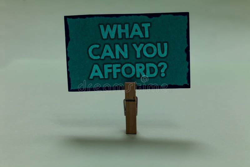 文字笔记陈列什么可能您买得起问题 企业照片陈列给我们您的金钱纸夹g的预算可及性 库存图片