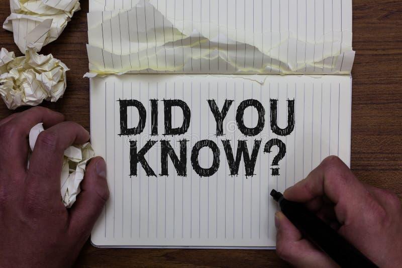 文字笔记陈列您认识问题 企业照片陈列的趣事和图信息常识人举行 免版税图库摄影