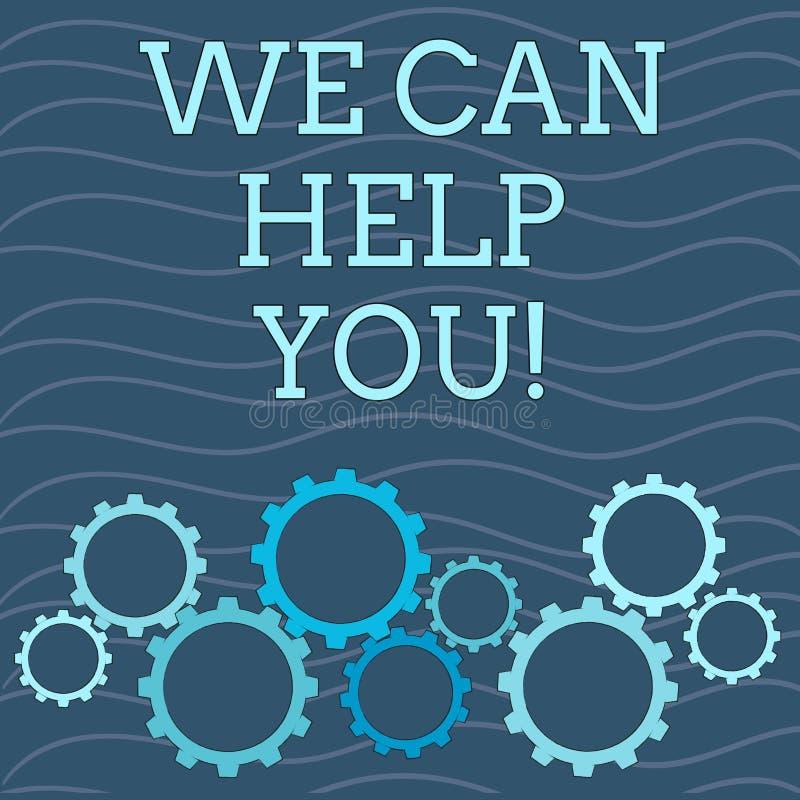 文字笔记陈列我们可以帮助您 对顾客或朋友的企业照片陈列的提供的好协助 库存例证