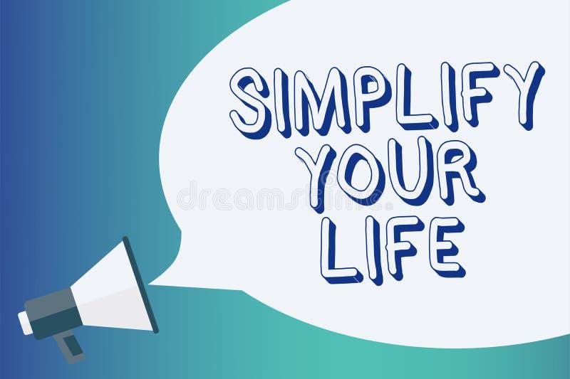 文字笔记陈列简化您的生活 企业照片陈列处理您的天工作采取容易的方法组织公告si 库存例证
