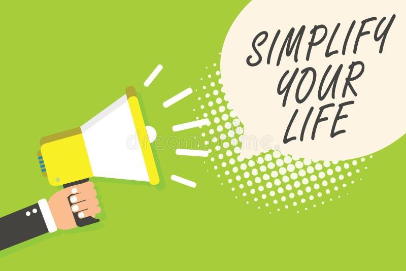 文字笔记陈列简化您的生活 企业照片陈列处理您的天工作采取容易的方法组织报告人announc 向量例证