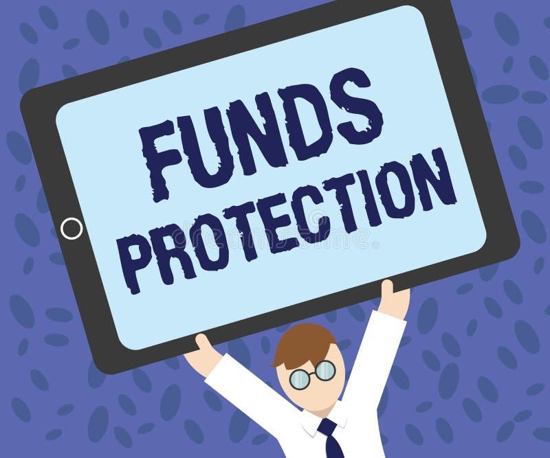 文字笔记陈列资助保护 企业照片陈列的诺言退回部分最初的投资到投资者 向量例证