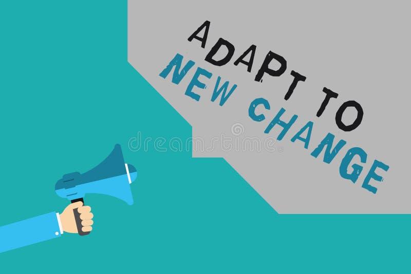 文字笔记陈列适应新的变动 企业照片陈列习惯最新的心态和行为创新 向量例证