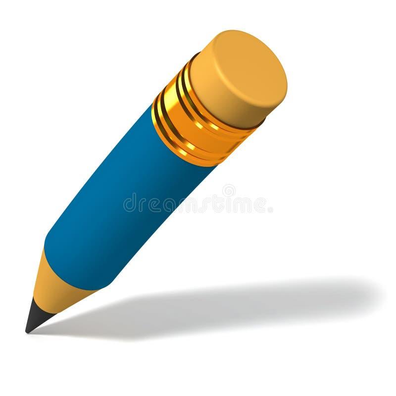 文字铅笔 库存例证