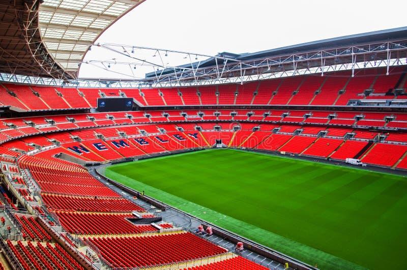 文布利橄榄球场,伦敦英国 免版税库存图片