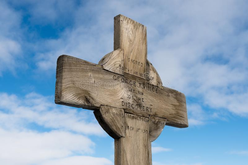 文斯` s十字架,小屋点 库存图片