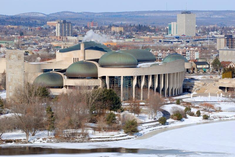 文明加拿大博物馆, Gatineau,魁北克 库存图片