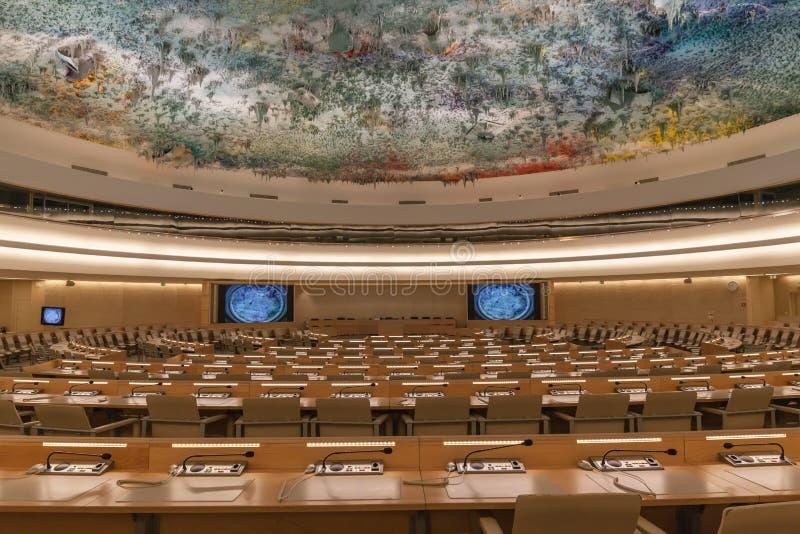 文明室的人权和联盟联合国的日内瓦 免版税库存照片
