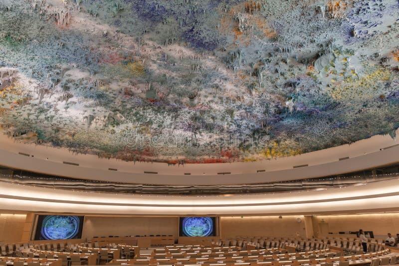 文明室的人权和联盟联合国的日内瓦 图库摄影