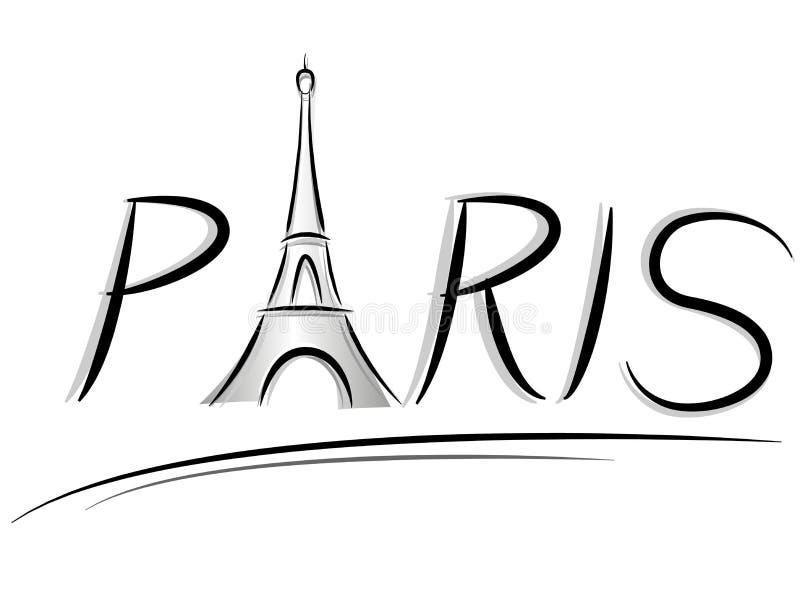 巴黎文本例证 库存例证