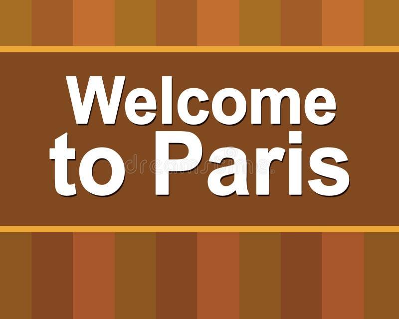 欢迎光临巴黎 文本巴黎 在您的设计的海报上写字 ?? 旅行巴黎电视节目预告飞行物 我爱巴黎 库存例证