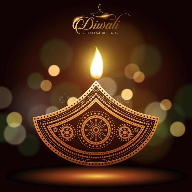 文本愉快的diwali 向量例证
