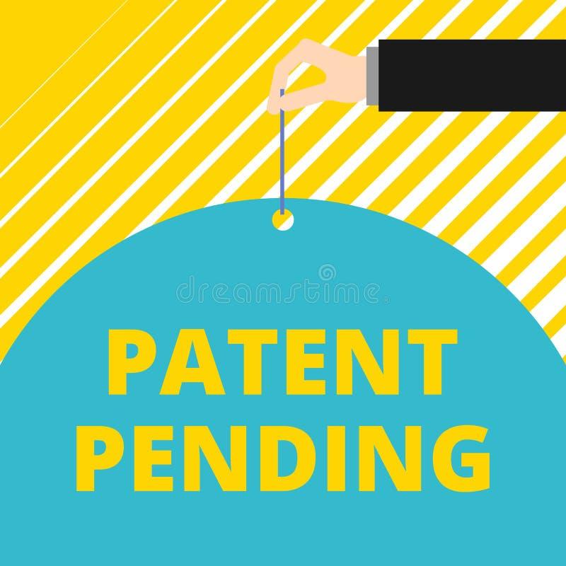 文本标志专利审理陈列的 概念性照片请求已经归档了,但是不授予追求保护人 向量例证