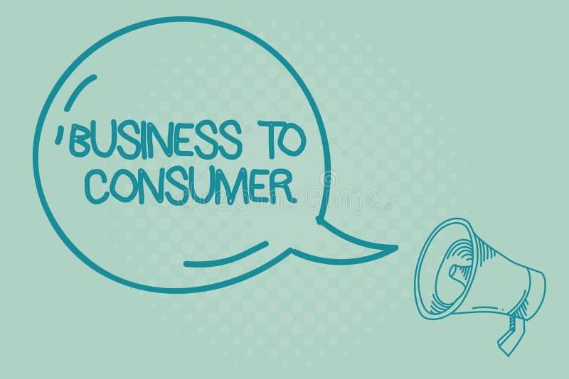 文本标志对消费者的演艺界 概念性在公司和终端用户之间的照片直接交易 向量例证
