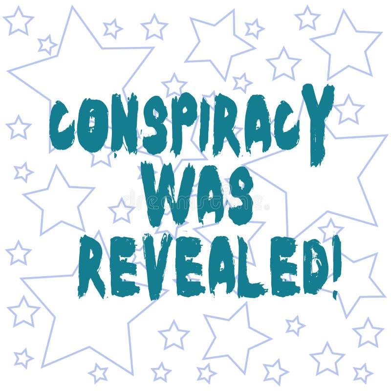 文本标志显露了陈列阴谋 活动秘密地计划被解开的概念性照片概述  皇族释放例证