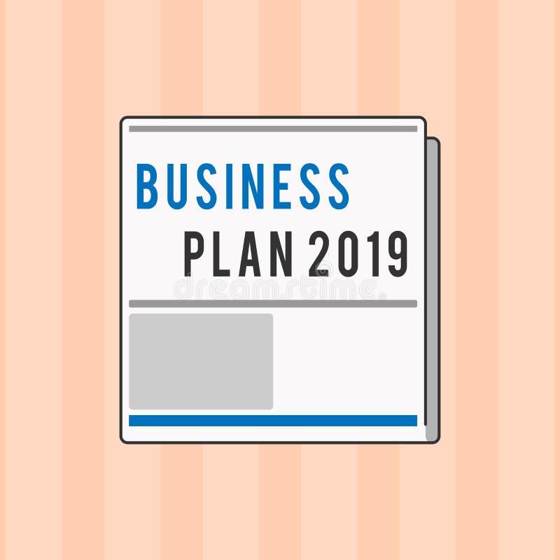 文本标志演艺界计划2019年 概念性照片富挑战性企业想法和目标新年 向量例证
