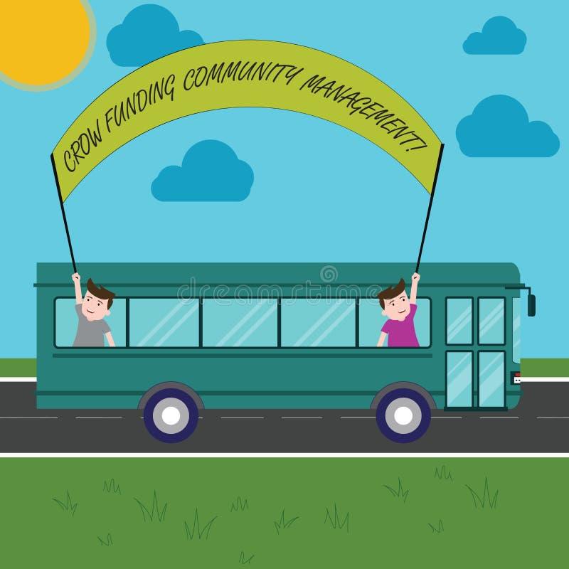 文本标志陈列乌鸦资助公共管理 概念性照片事业资金项目投资里面两个的孩子 向量例证