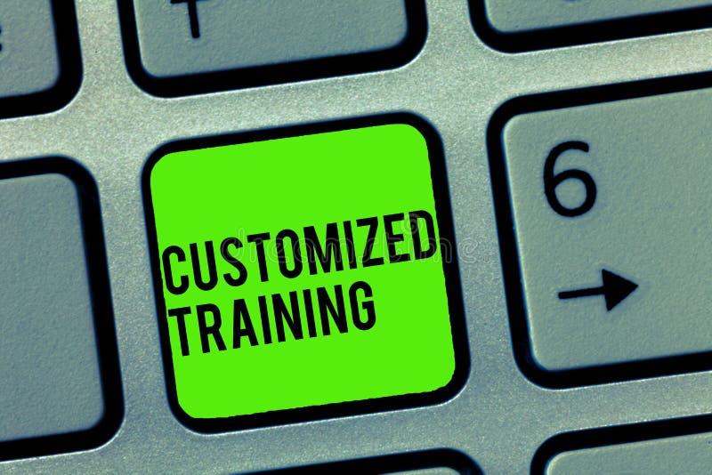 文本标志陈列定制的训练 概念性照片设计符合雇主的特别要求 库存照片