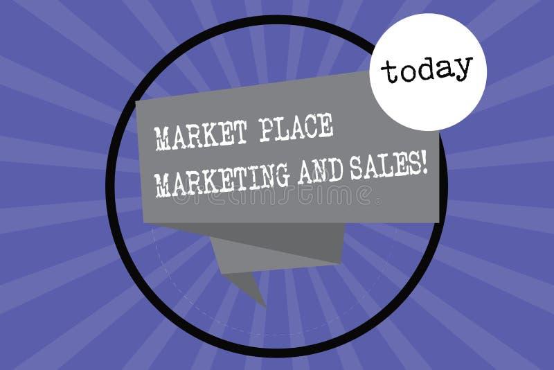 文本标志陈列市场营销和销售 概念性购买被折叠的3D丝带的照片网上现代购物 向量例证