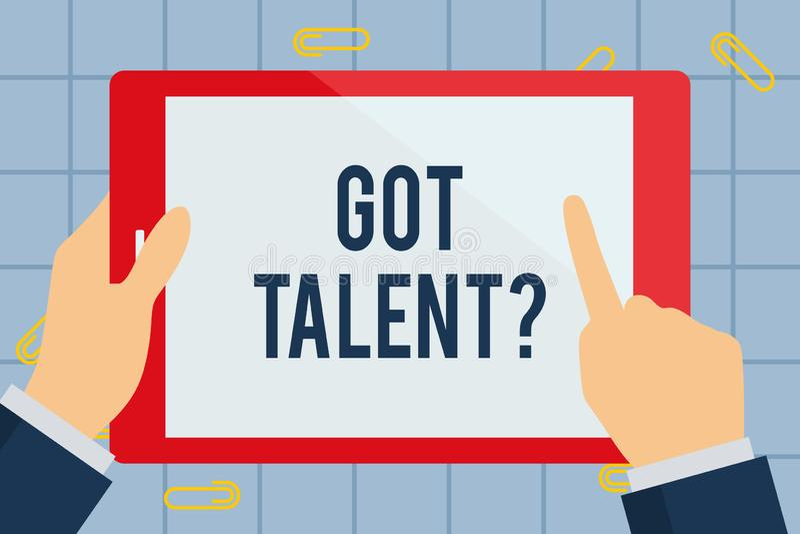 文本标志陈列得到了Talentquestion 问概念性的照片是否得到的天生能力是好在某事上商人 皇族释放例证