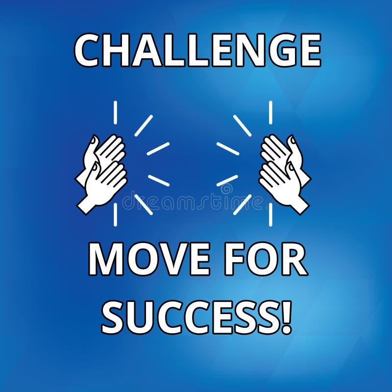 文本标志陈列成功的挑战移动 概念性成功画的照片专业运动战略  向量例证