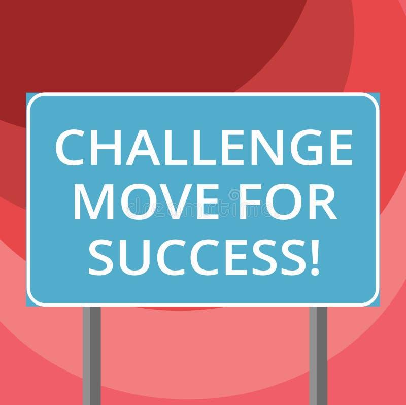 文本标志陈列成功的挑战移动 概念性成功空白的照片专业运动战略 向量例证