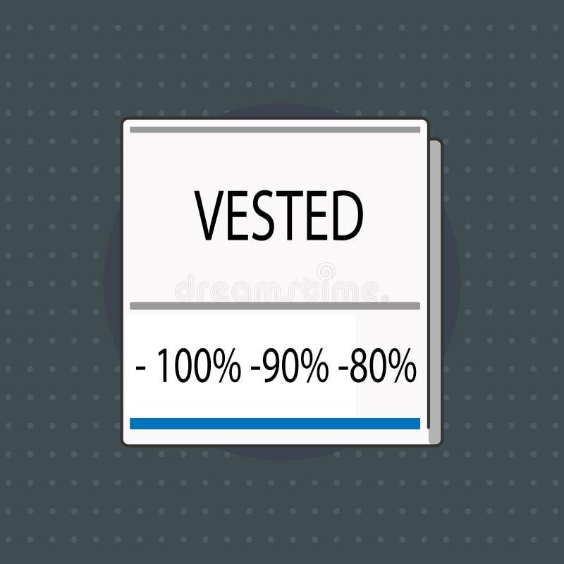 文本标志陈列授予了100 90 80 概念性照片有资袼根据工作年限的退休福利 库存例证