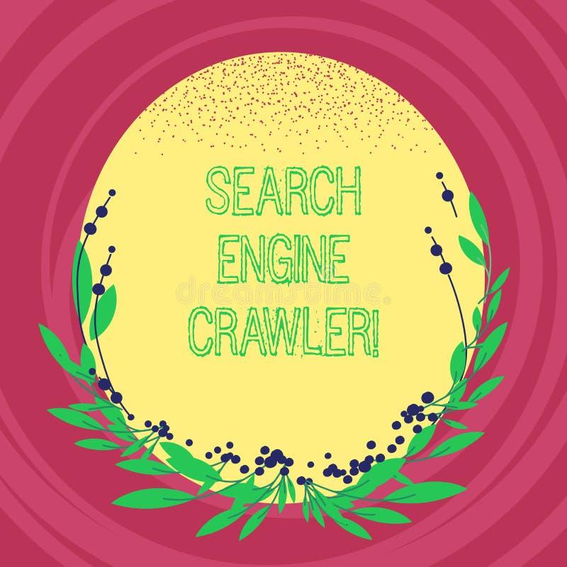 文本标志陈列搜索引擎履带牵引装置 概念性照片节目或浏览网空白颜色的自动化的剧本 向量例证