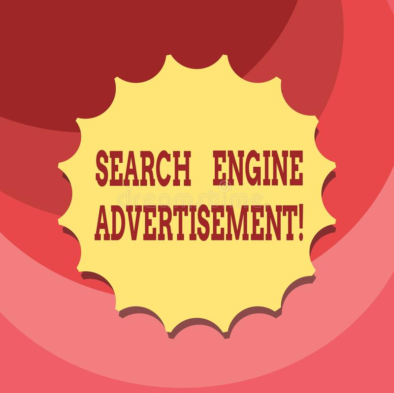文本标志陈列搜索引擎广告 安置网上广告的概念性照片在网页删去封印 皇族释放例证