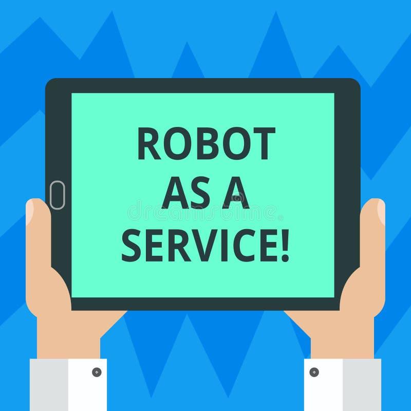 文本标志陈列机器人作为服务 概念性照片人工智能数字协助闲谈马胃蝇蛆胡分析 向量例证