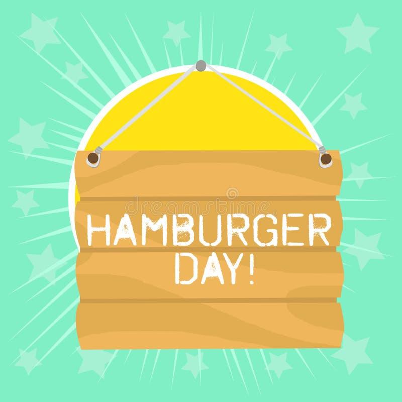 文本标志陈列汉堡包天 概念性照片庆祝此的历史最不可抗拒三明治联接 向量例证