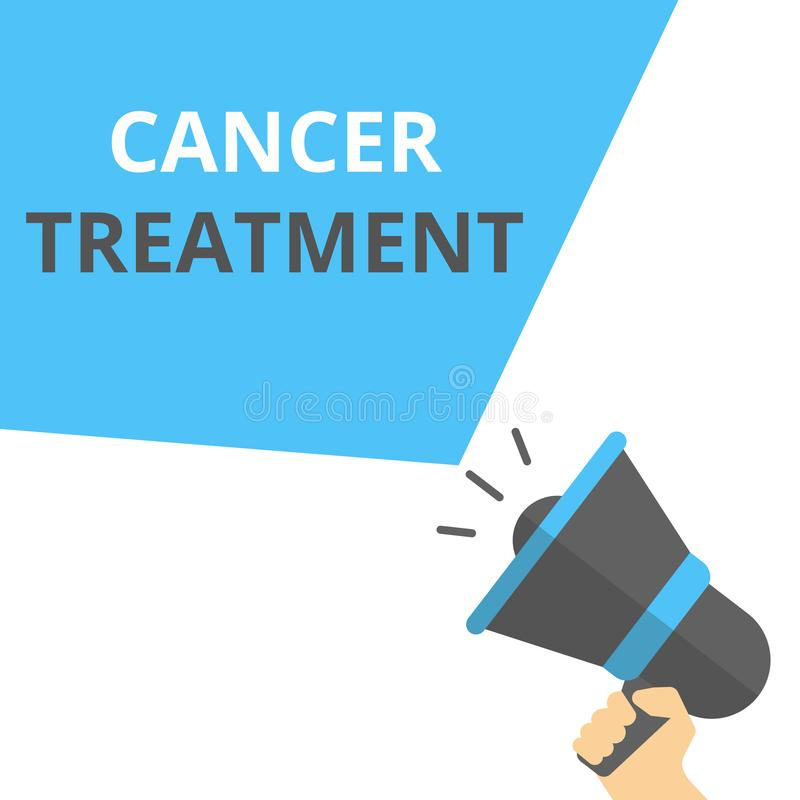 文本标志陈列癌症治疗 向量例证