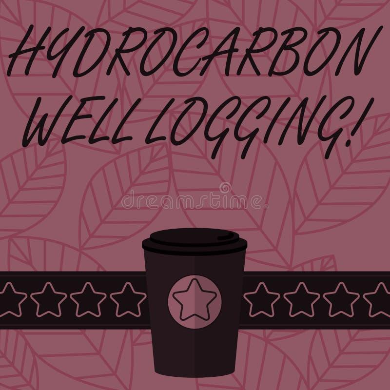 文本标志陈列碳氢化合物钻井测试 钻孔3D咖啡的地质结构的概念性照片纪录 皇族释放例证
