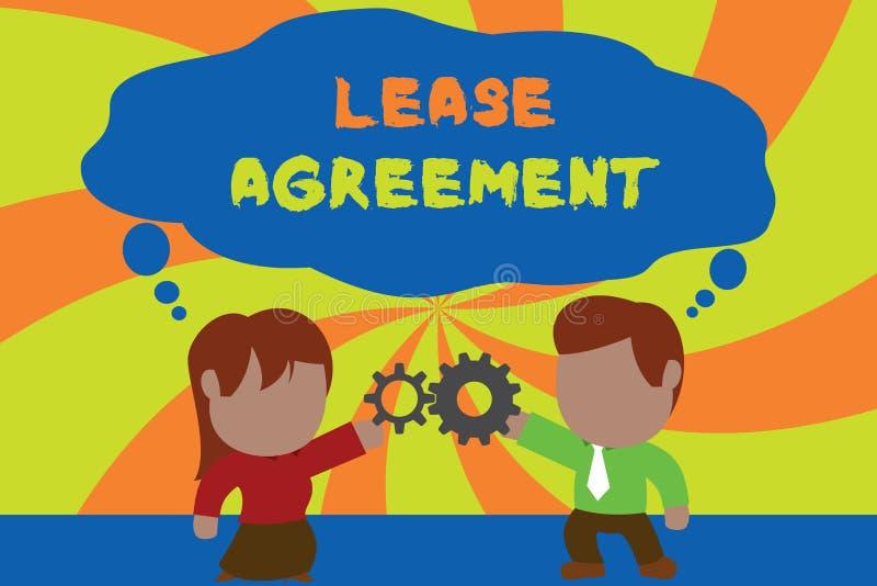文本标志陈列租借协定 以方式的概念性照片合同对一个党同意租物产站立 皇族释放例证