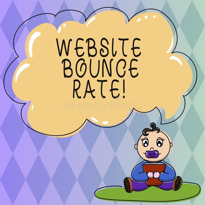 文本标志陈列网站跳动率 用于网交通分析婴孩的概念性照片互联网市场术语 皇族释放例证
