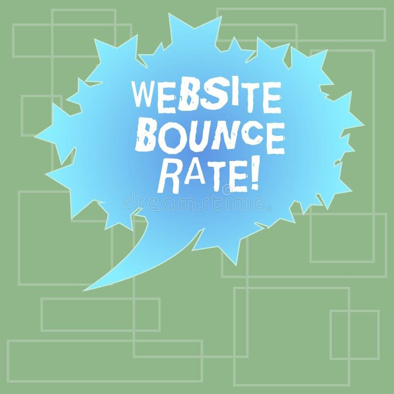文本标志陈列网站跳动率 用于网交通分析空白的长圆形的概念性照片互联网市场术语 向量例证