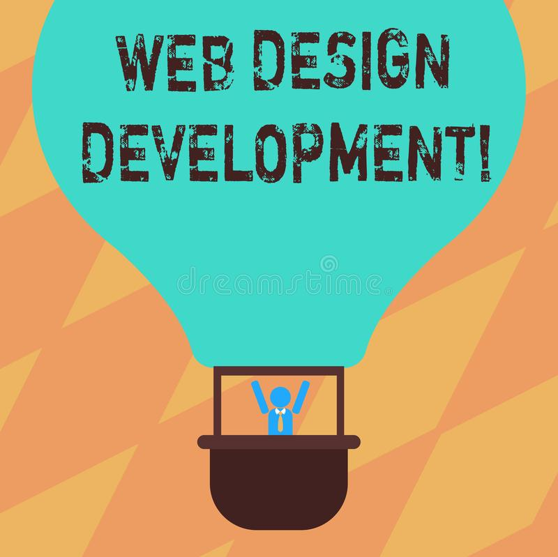 文本标志陈列网络设计发展 概念性主持的照片开发的网站通过内部网胡分析 向量例证