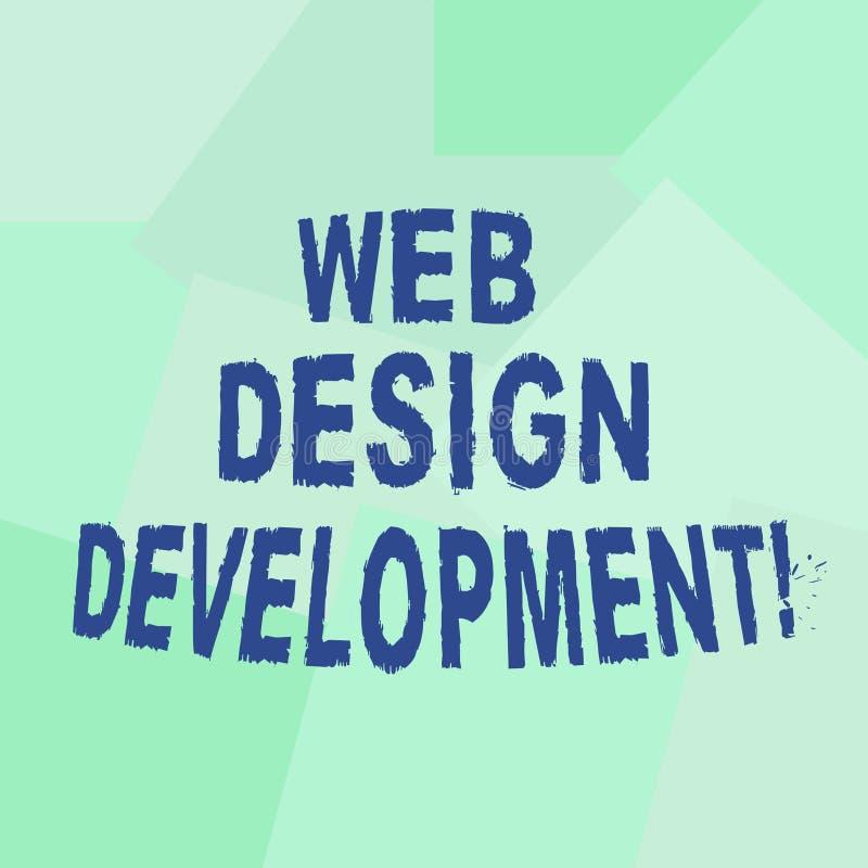文本标志陈列网络设计发展 概念性主持的照片开发的网站通过参差不齐的内部网 向量例证