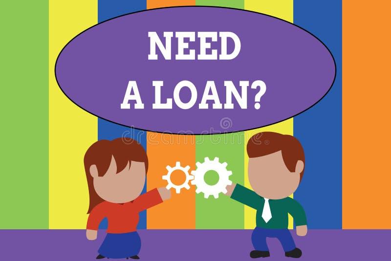 文本标志陈列需要Loanquestion 提供demonstratingal或企业财务的概念性照片金钱 皇族释放例证
