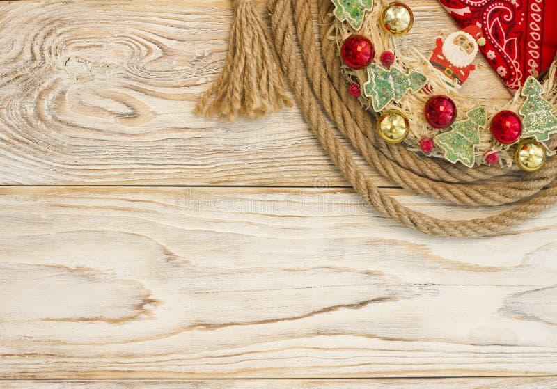 文本的狂放的美国圣诞节背景 免版税图库摄影
