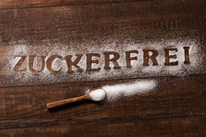 文本糖免费用德语写用糖 库存照片