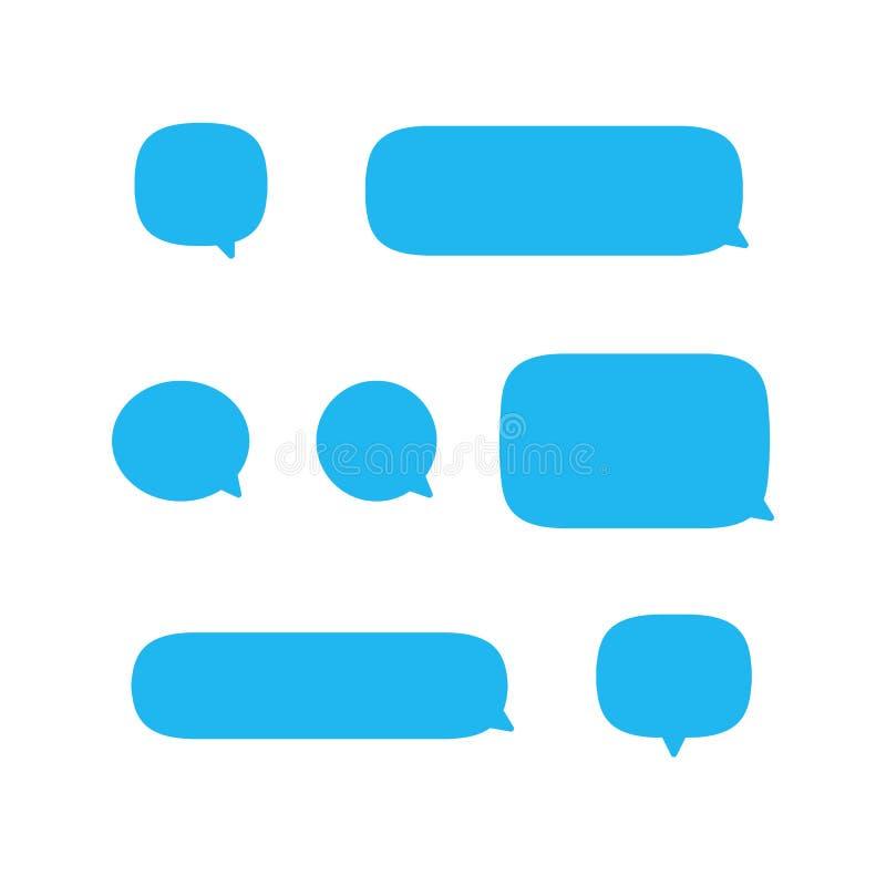 文本讲话泡影,消息手机传染媒介象集合收藏,sms falat设计隔绝在白色背景 向量例证
