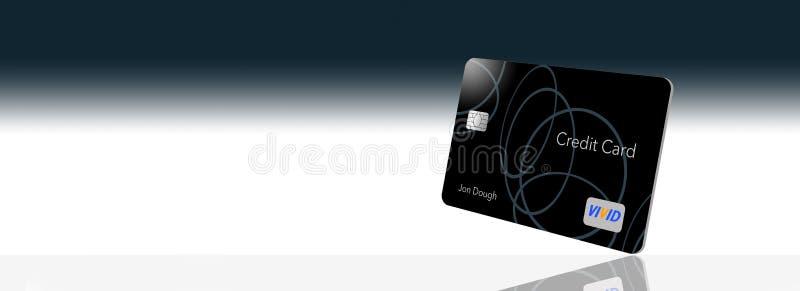 文本这里信用卡的空间是与显示与larg的普通非违犯的商标和类型的一张普通信用卡 库存例证