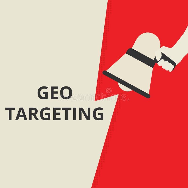 文本Geo瞄准 皇族释放例证