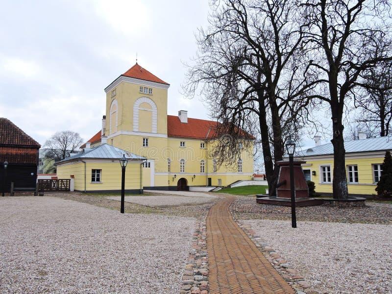 文茨皮尔斯镇城堡,拉脱维亚 库存照片