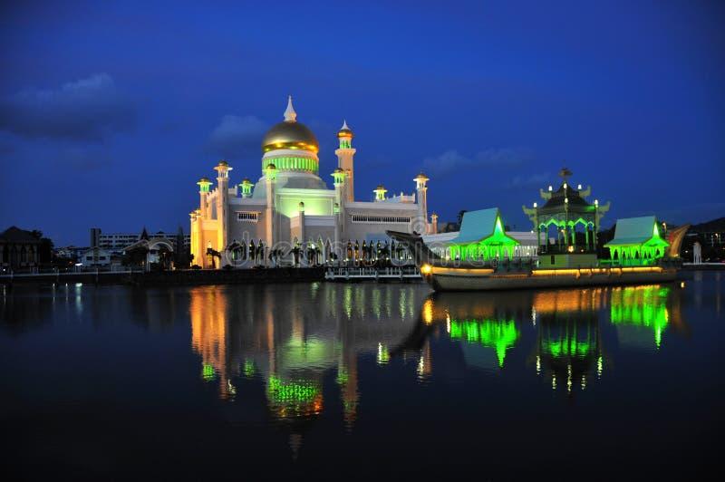 文莱苏丹奥马尔阿里Saifuddien清真寺 免版税库存图片
