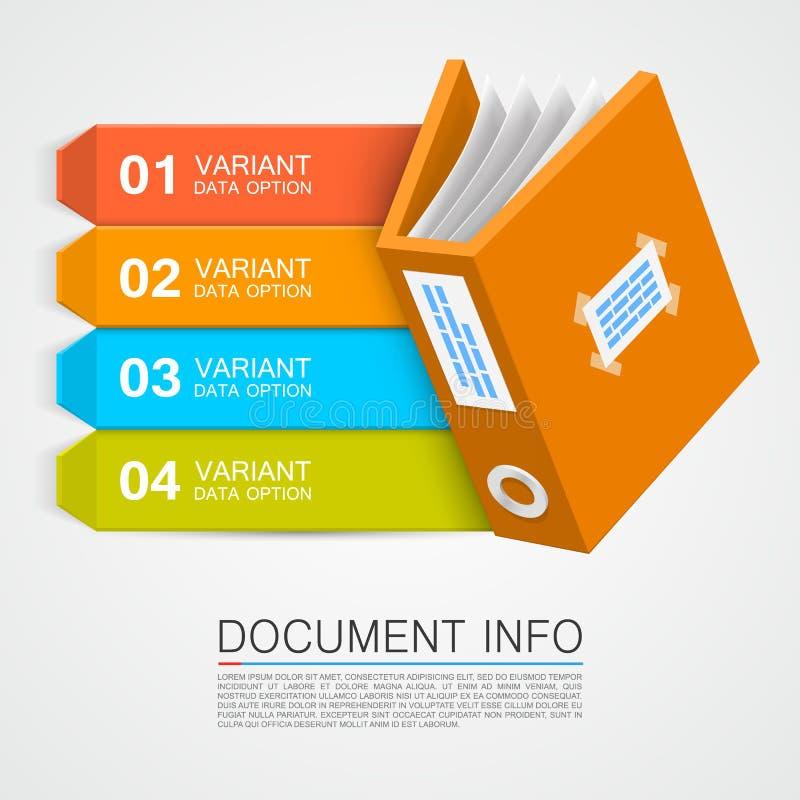 文件信息 库存例证